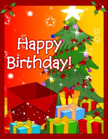 happy birthdaymerry christmas to you both